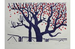 """ A Morning Chat "" Limited edition Relief Print"