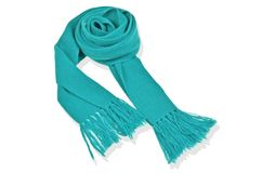 Cashmere junior fringed scarf - Teal
