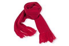 Cashmere junior fringed scarf - Rouge