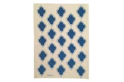Lanterns Tea Towel Navy Blue