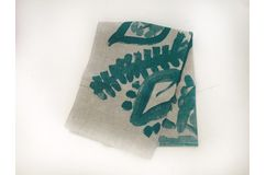Pottery Blue Tea Towel