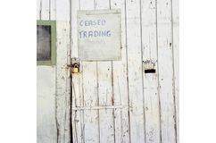 CEASED TRADING photographic print
