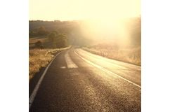 GOLDEN ROAD photographic print