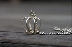 Sterling silver crown necklace with chain