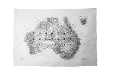 Country Culture - Australian Map -  Tea Towel