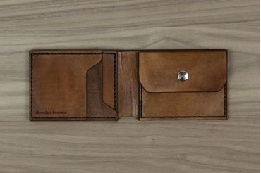 Classic Wallet with Coin Pouch - Chocolate Brown