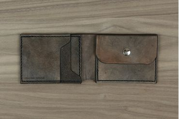 Classic Wallet with Coin Pouch - Slate Grey