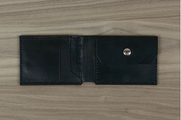 Classic Wallet with Coin Pouch - Antique Black