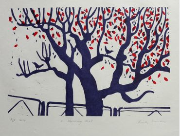 """"""" A Morning Chat """" Limited edition Relief Print"""
