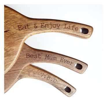 Personalised Gumleaf Australian Hardwood Serving Board